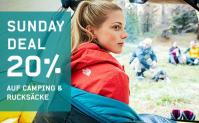 Ochsner Sport: 20% Rabatt auf alle Camping-Artikel inkl. Rucksäcke + kombinierbar mit 20.- Gutschein (ab MBW 99.-)