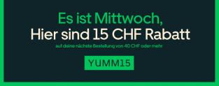 Uber Eats: CHF 15.- Rabatt ab CHF 40.- Bestellung