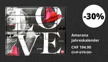 Amorana Jahreskalender (nur heute)