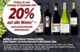 Freitag & Samstag: 20% zusätzlich auf alle Weine bei Denner