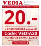 20.- ab CHF 100.- Bestellung & Gratislieferung bei Vedia