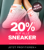Nur heute: 20% auf alle Sneakers bei Dosenbach