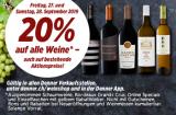 Freitag + Samstag: 20% Rabatt auf alle Weine bei Denner