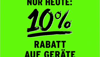 10% Rabatt auf Geräte bei InterDiscount (nur heute!)