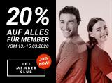 20% Rabatt auf alles bei Import Parfumerie (The Member Club Mitglieder – Anmeldung notwendig)