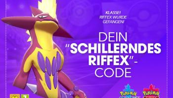Gratis Shiny Riffex für Pokémon Schwert & Schild