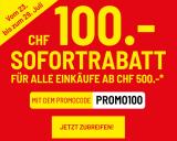 Conforama: 100.- Rabatt ab MBW 500.- (ohne Technik und weitere Ausschlüsse)