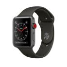 APPLE Watch Series 3 GPS + Cellular, 38mm Aluminiumgehäuse, Space Grau mit Sportarmband, Grau bei melectronics