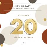 Nur heute: 20% auf die neue Kollektion bei WE Fashion