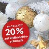 20% auf Weihnachtsschmuck bei Pfister, z.B. Glasformen-Set Waldsaga für CHF 11.95 statt CHF 14.95