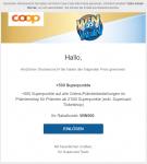 +500 Superpunkte auf alle Online-Prämienbestellungen im Prämienshop für Prämien ab 2'000 Superpunkte (exkl. Supercard Ticketshop)