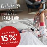 15% auf alles rund ums Schlafen bei Pfister, z.B. Duvetanzug Solana für CHF 67.95 statt CHF 79.95