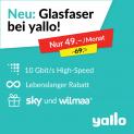 Yallo Fiber mit 10 Gbit/s für CHF 49.- (Lebenslanger Rabatt)
